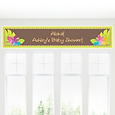 Luau - Personalized Baby Shower Banner