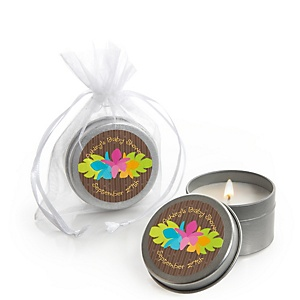 Luau - Candle Tin Personalized Baby Shower Favors