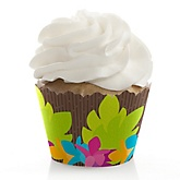 Luau - Baby Shower Cupcake Wrappers & Decorations