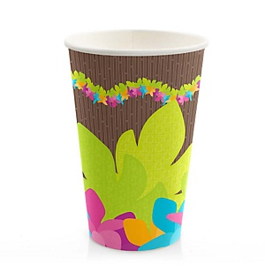 Luau - Baby Shower Hot/Cold Cups - 8 Pack