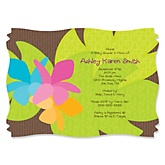 Luau - Personalized Baby Shower Invitations