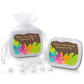 Luau - Mint Tin Personalized Baby Shower Favors