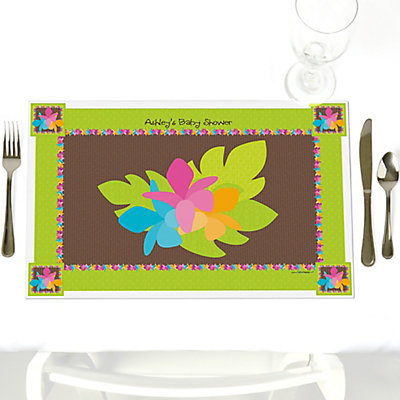 Luau baby shower place mat