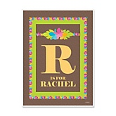 Luau - Personalized Baby Shower Poster Gifts