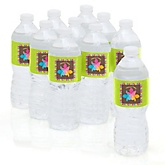 Luau - Baby Shower Personalized Water Bottle Sticker Labels - 10 Count