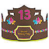 Luau - Personalized Birthday Party Hats - 8 ct