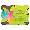 Luau - Personalized Birthday Party Invitations