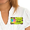 Luau - Personalized Birthday Party Name Tag Stickers - 8 ct