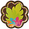 Luau - Birthday Party Dinner Plates - 8 ct