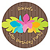 Luau - Personalized Birthday Party Sticker Labels - 24 ct