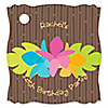 Luau - Personalized Birthday Party Tags - 20 ct