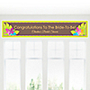 Luau - Personalized Bridal Shower Banners