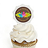Luau - Personalized Bridal Shower Cupcake Pick and Sticker Kit -  12 ct
