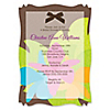 Luau - Personalized Bridal Shower Vellum Overlay Invitations