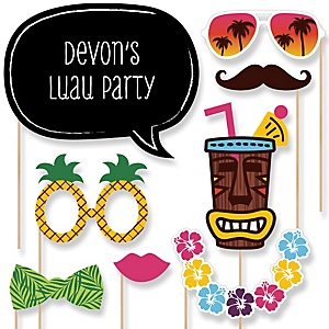 Luau - Photo Booth Props Kit - 20 Props