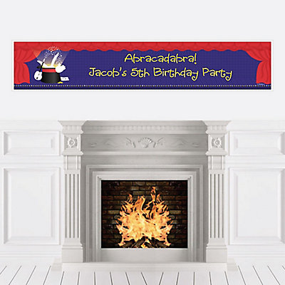 Personalize | Birthday | Banner | Magic | Party