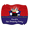 Magic - Personalized Birthday Party Squiggle Stickers - 16 ct