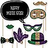 Mardi Gras - 20 Piece Mardi Gras Photo Booth Props Kit