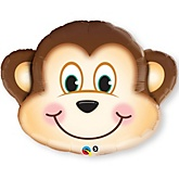 "30"" Mischievous Monkey - Super Shaped Mylar Baby Shower Balloon"