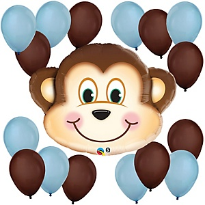 Mischievous Monkey Boy - Baby Shower Balloon Kit