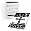 Modern Floral Black & White - Baptism Fill In Invitations - 8 ct