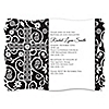 Modern Floral Black - White Cross - Personalized Baptism Invitations