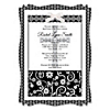 Modern Floral Black & White Cross - Personalized Baptism Vellum Overlay Invitations