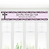Modern Floral Wild Orchid Cross - Personalized Baptism Banners