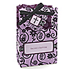 Modern Floral Wild Orchid Cross - Personalized Baptism Favor Boxes