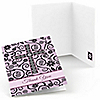 Modern Floral Wild Orchid - Baptism Thank You Cards - 8 ct
