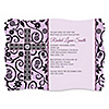 Modern Floral Wild Orchid Cross - Personalized Baptism Invitations