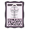 Modern Floral Wild Orchid Cross - Personalized Baptism Vellum Overlay Invitations