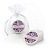 Modern Floral Wild Orchid Cross - Personalized Baptism Lip Balm Favors