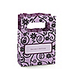 Modern Floral Wild Orchid Cross - Personalized Baptism Mini Favor Boxes