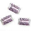 Modern Floral Wild Orchid Cross - Personalized Baptism Mini Candy Bar Wrapper Favors - 20 ct