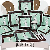 Mommy Silhouette It's A Baby - 16 Person Baby Shower Kit