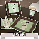 Mommy Silhouette It's A Baby - 8 Person Baby Shower Kit