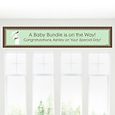 Mommy Silhouette - It's A Baby - Personalized Baby Shower Banner