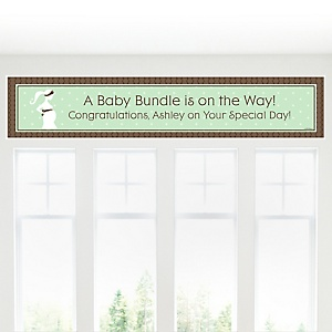 Mommy-To-Be Silhouette – It's A Baby - Personalized Baby Shower Banners