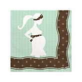 Mommy Silhouette It's A Baby - Baby Shower Beverage Napkins - 16 Pack