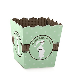 Mommy Silhouette It's A Baby - Personalized Baby Shower Candy Boxes