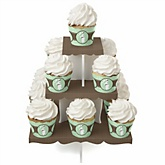 Mommy Silhouette It's A Baby - Baby Shower Cupcake Stand & 13 Cupcake Wrappers