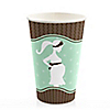 Mommy Silhouette It's A Baby - Baby Shower Hot/Cold Cups - 8 ct