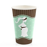 Mommy Silhouette It's A Baby - Baby Shower Hot/Cold Cups - 8 Pack