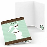 Mommy Silhouette It's A Baby - Baby Shower Thank You Cards - Set of  8