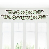 Mommy Silhouette It's A Baby - Personalized Baby Shower Garland Banner