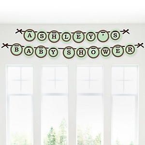 Mommy Silhouette It's A Baby - Personalized Baby Shower Garland Letter Banners
