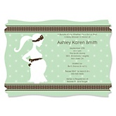 Mommy Silhouette It's A Baby - Personalized Baby Shower Invitations
