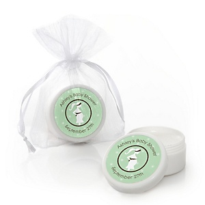 Mommy-To-Be Silhouette – It's A Baby - Personalized Baby Shower Lip Balm Favors