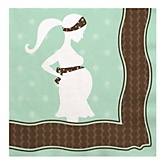 Mommy Silhouette It's A Baby - Baby Shower Luncheon Napkins - 16 Pack